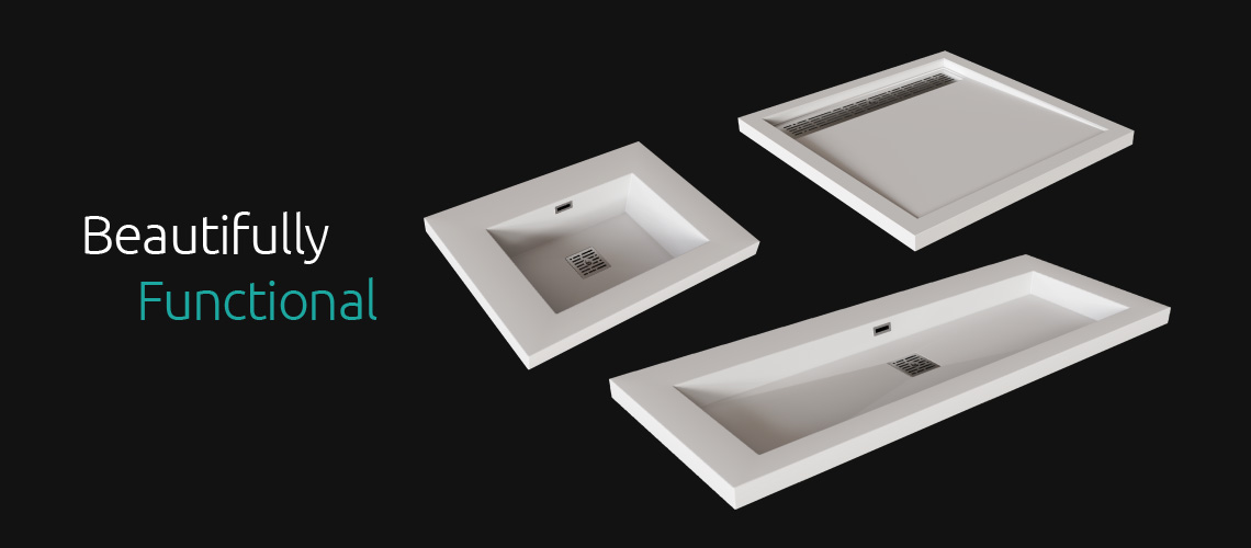 pekaia living design bathroom fixtures sinks standard u0026 custom vanity tops trough drain shower bases
